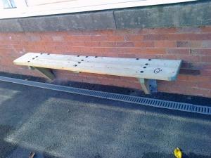 Heavy duty wall mounted bench