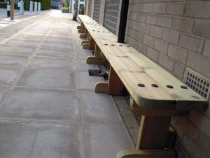 Timber bench seating