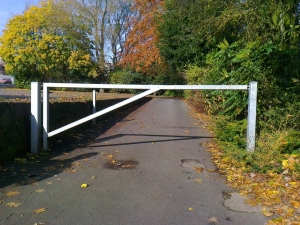Galvanised swing access barrier